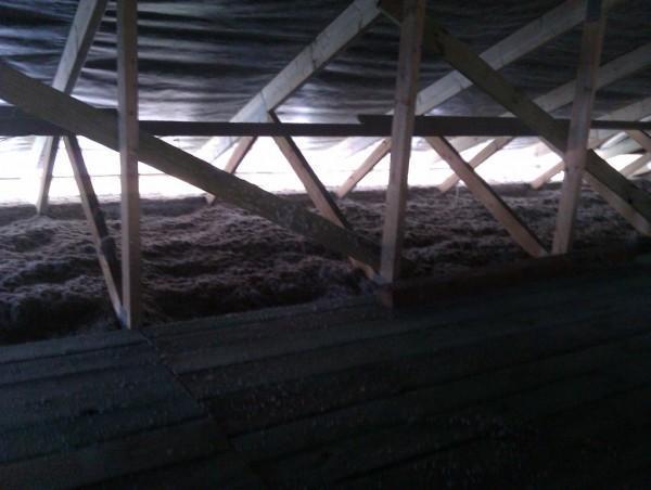 podłoga na strychu