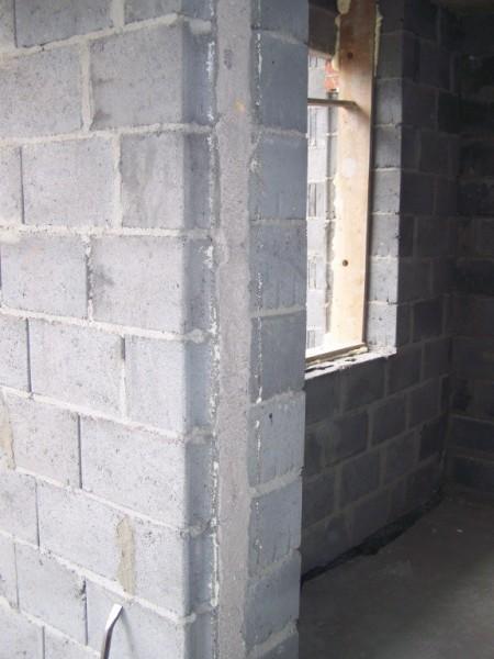 ściana bez tynku
