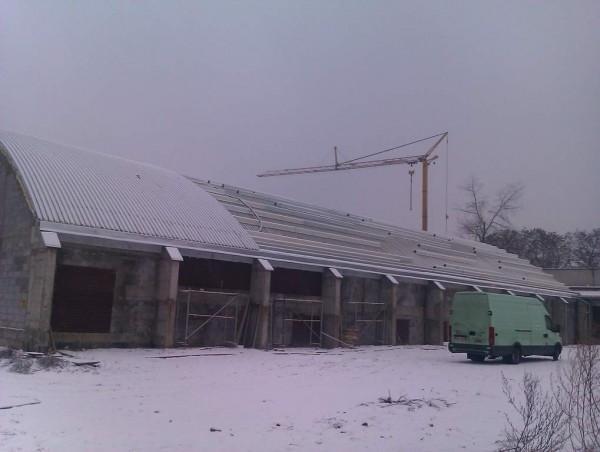 budynki zimą