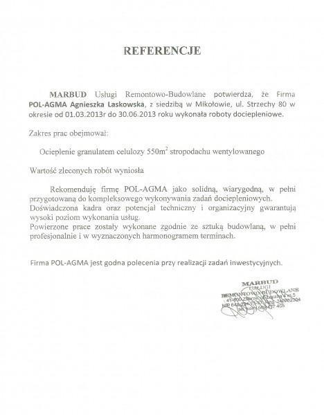 referencje Marbud Zabrze