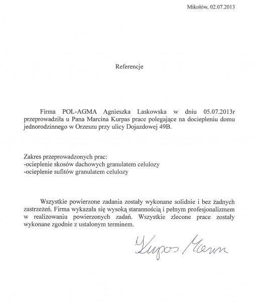 referencje Marcin Kurpas
